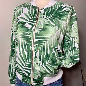 Forever 21 Green Leaf Light Spring Jacket Sz Small